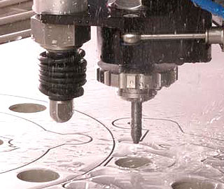 Waterjet head